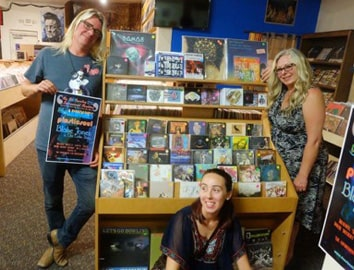 Picture of Cristina Bulbenko inside Big Stir Records