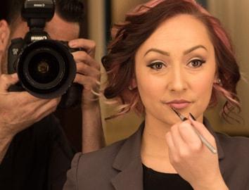 Headshot of makeup artist Tiffany Paige Lambert